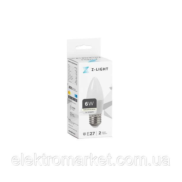 LED лампа Z-Light 6W,свечка, E27, 540lm (ZL 13706274)