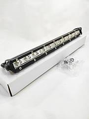 Светодиодная LED противотуманная фара балка ЛИДЕР (1 шт) D4 36W дальнего света узкая 355x27x50