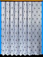 "Жаккардовый тюль ""Жан-Жак"" (белый), высота 250 см"