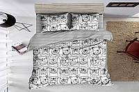 Сатиновое постельное белье двуспальное евро 200*220 (14940) хлопок 100%, фото 1
