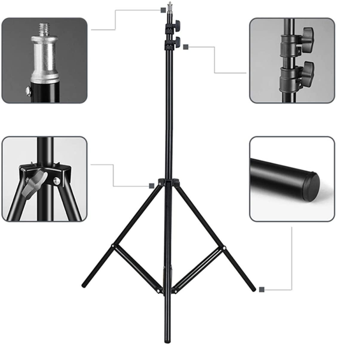 Телескопический штатив, стойка тренога ножка для кольцевой лед лампы 2.1 м hm