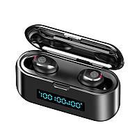 Беспроводные Bluetooth наушники F9. Индикатор заряда - LED Display. Power Bank/F9/0