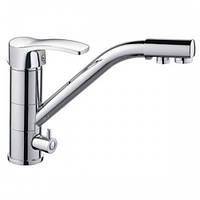 Смеситель для кухни с выходом питьевой воды латунный Haiba Focus 021