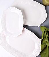 Набор из 3 сервировочных блюд Белые розы 944-025