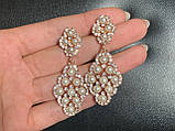 Акуратність сережки з перлинами (5 см), фото 2