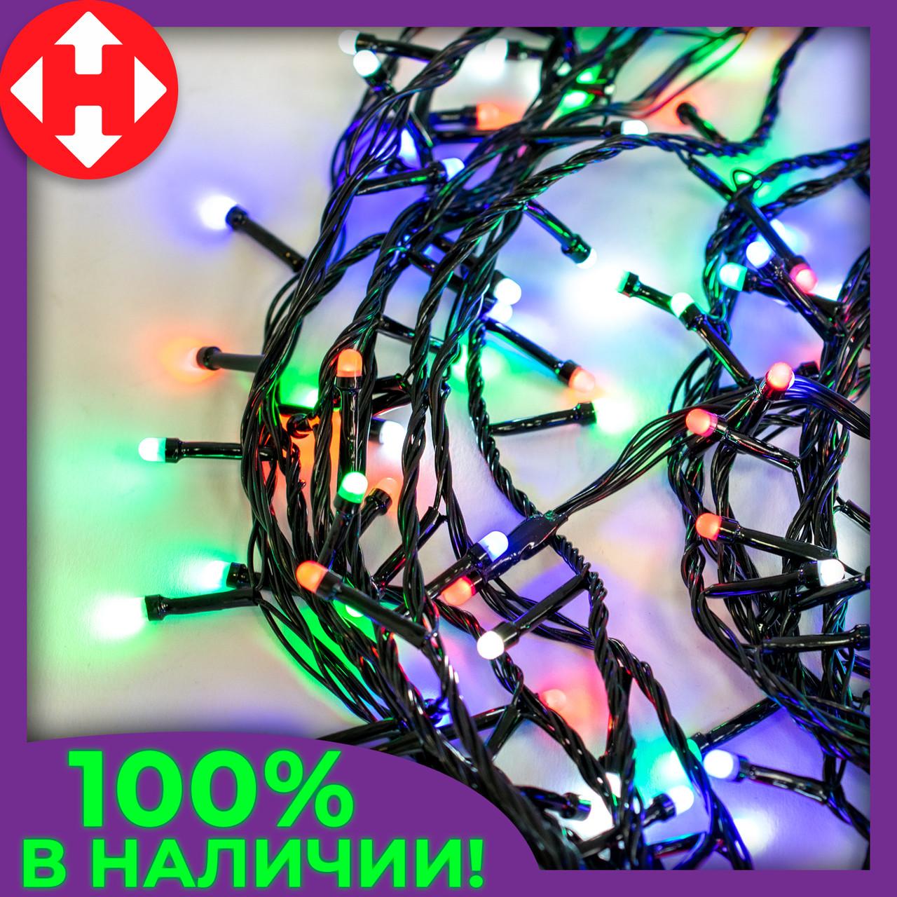 Светодиодная гирлянда Xmas LED 400 M-4 16 метров, новогодняя гирлянда на ёлку (новорічна гірлянда)