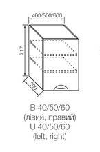 Модуль АДЕЛЬ ЛЮКС верхний В 40