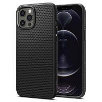 Чохол Spigen для iPhone 12 Pro Max - Liquid Air, Matte Black (ACS01617)
