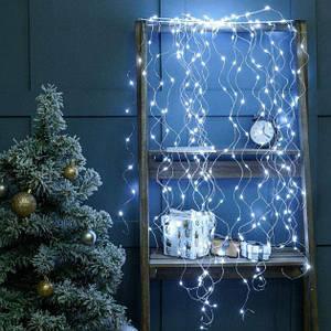 Гирлянда Лучи Росы или Конский Хвост, 2 м, 200 LED,10 нитей, Белая, от Сети 220V