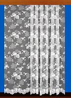 """Жаккардовый тюль """"Кленовый рай"""" (белый), высота 260 см"""