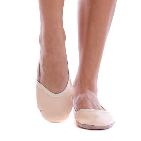Получешки (полупальцы) для художественной гимнастики кожаные бежевые 170, фото 2