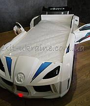 Кровать машинка Audi белая с открывающимися дверями