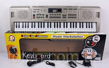 Пианино  70 см синтезатор с USB 61 клавиша (5 октав) MQ 816. Работает от батареек и от сети. Есть микрофон.