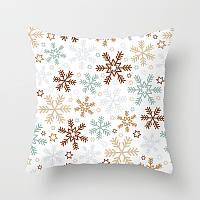 Декоративная подушка - Снежинки