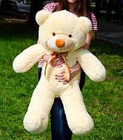 Плюшевый мишка 100 см персиковый, мягкий медведь, подарок для девушки на день рождения