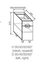 Модуль АДЕЛЬ ЛЮКС нижний Н 60
