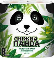Туалетная бумага Снежная Панда classic 2-х слойная, 150 отрывов, 8 шт.