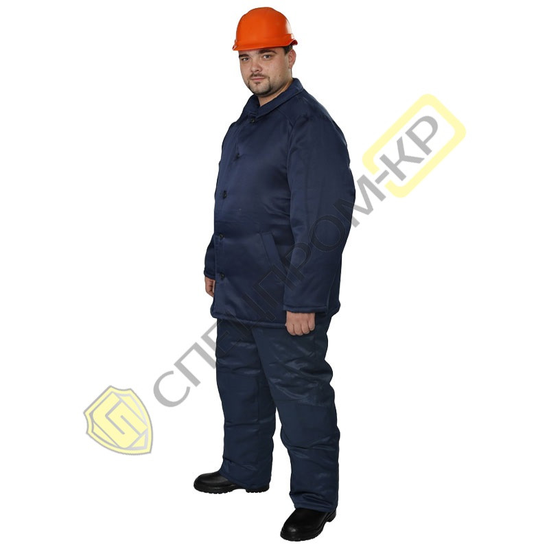 Куртка ватная тк Дефенса темно-синяя