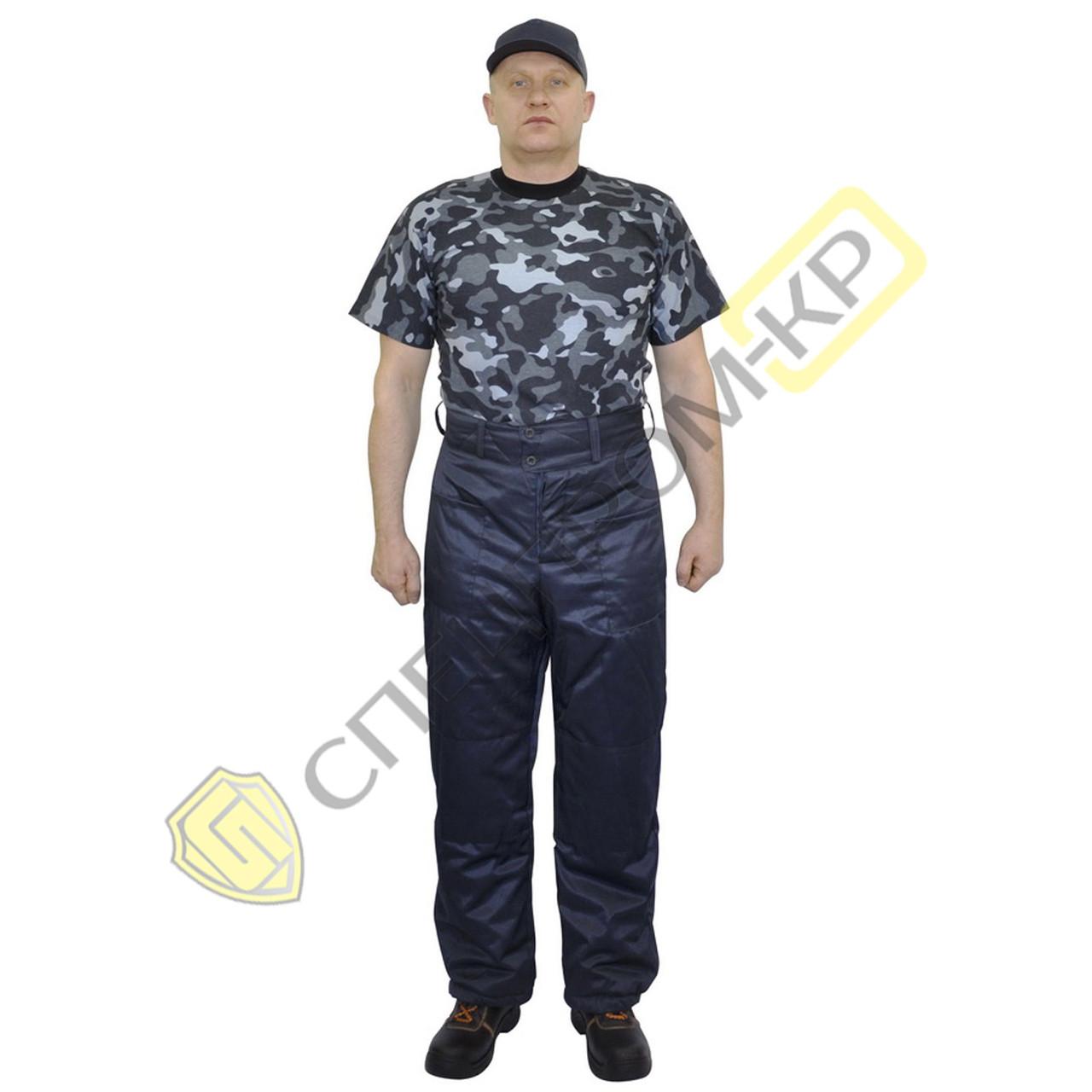 Брюки утепленные тк Дефенса темно-синие