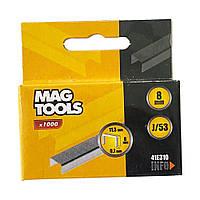 Скоба Magtools для степлера 8 мм, упаковка 1000 шт, ширина 11.3 мм J/53 (030434)