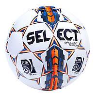 Мяч футбольный SELECT BRILLANT REPLICA (белый-синий-оранжевый)