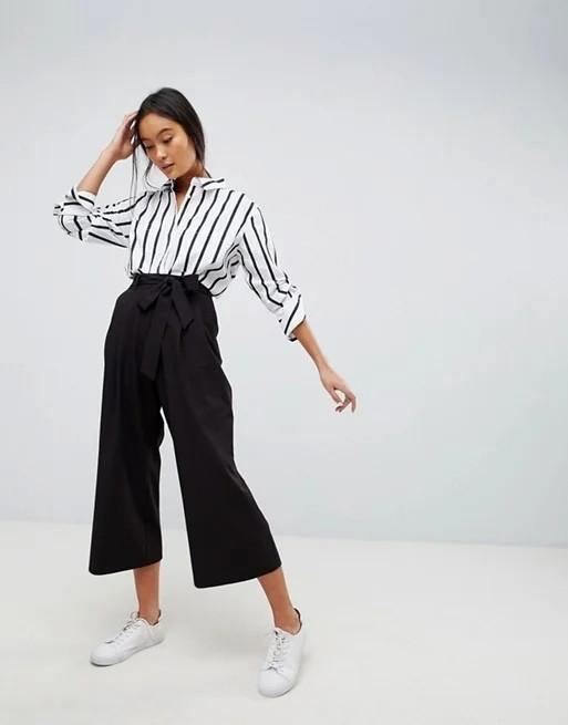 женский брюки кюлоты