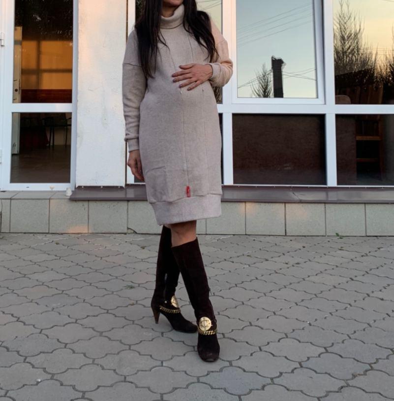Платье худи для беременных и кормящих мам