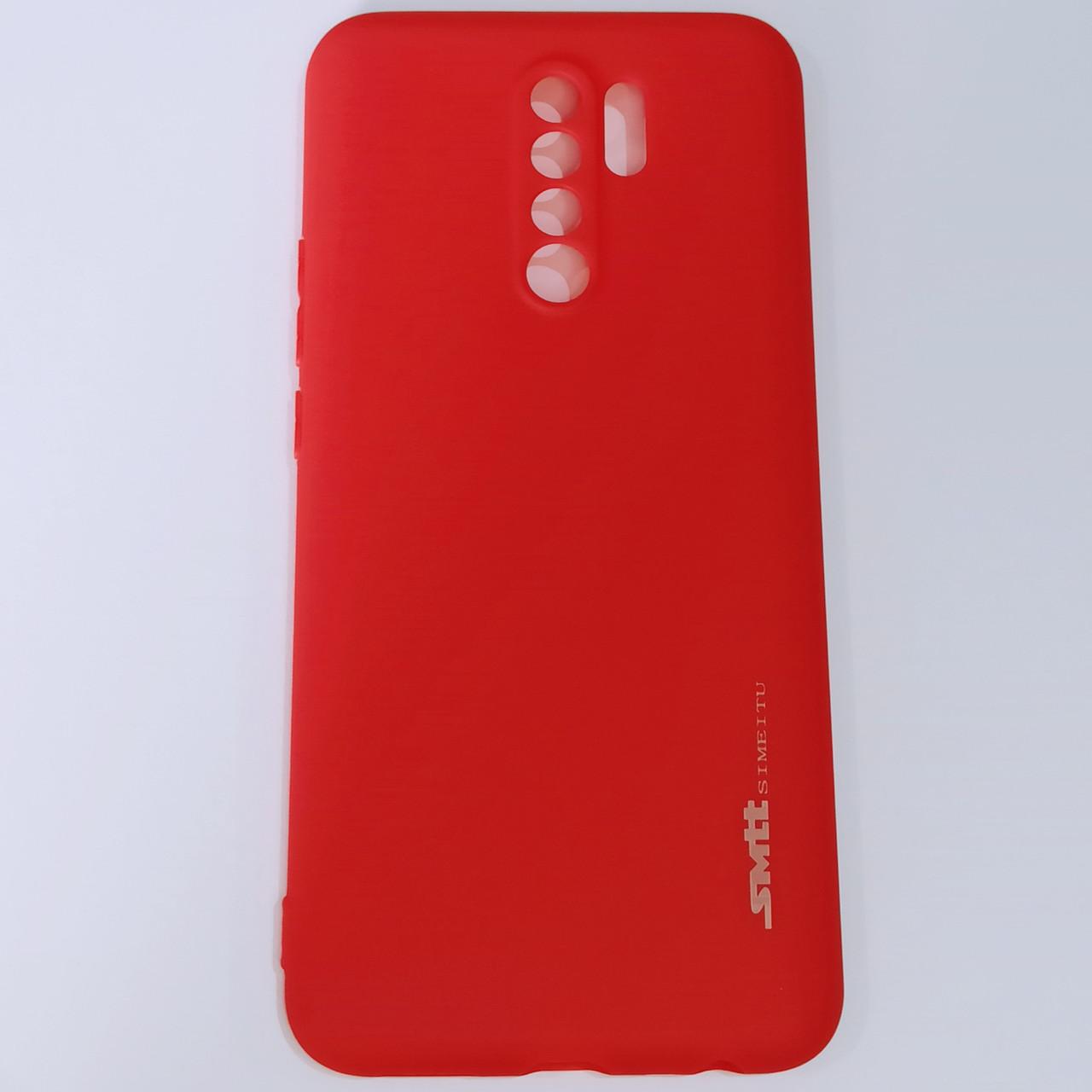 Бампер  для Xiaomi Redmi 9 Smit Красный