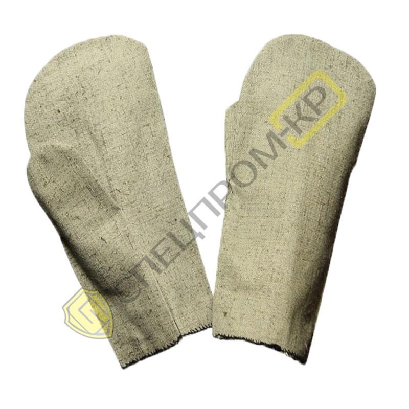 Рукавицы брезентовые двухслойные с брезентовым наладонником (плотность 400)