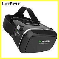 Окуляри віртуальної реальності VR BOX SHINECON / 3D окуляри + Пульт Чорні