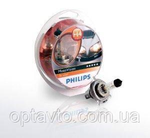 МОТО лампа H4 PHILIPS 60/55W 12V P43t-38 MotoVision