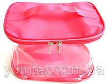 Прозора сумочка ручної роботи із силіконової плівки і водонепроникної тканини рожевий