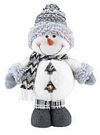Новогодняя игрушка из ткани снеговик (высота 40 см)
