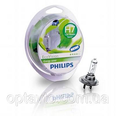 Авто лампа H7 PHILIPS 55W 12V PX26d EcoVision