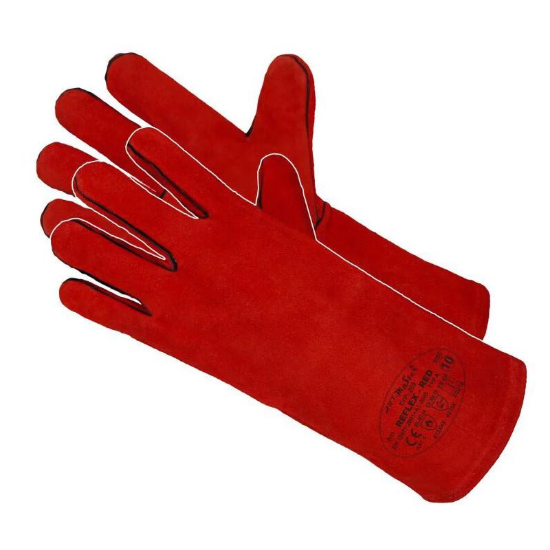 Краги сварщика кожаные REFLEX-RED ArtMas красные