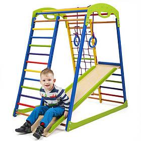 Дитячий спортивний дерев'яний куточок «SportWood»  ТМ Sportbaby, розміри 1.3х0.85х1.32м