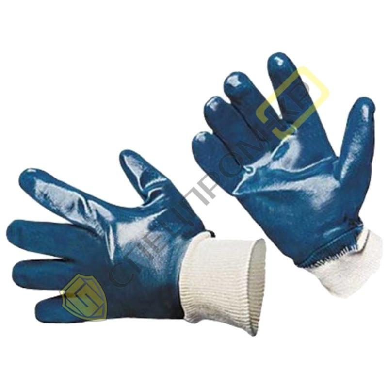 Перчатки МБС покрытые нитрилом мягкий эластичный манжет