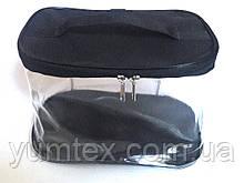 Прозора сумочка ручної роботи із силіконової плівки і водонепроникної тканини чорна