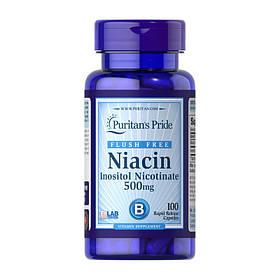 Ніацин Puritan's Pride Niacin 500 mg (100 кап) пуританс прайд