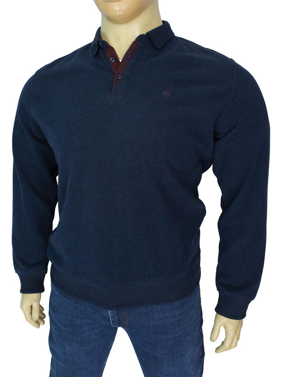 Однотонный демисезонный мужской свитер Better Life 1940 B rib в большом размере