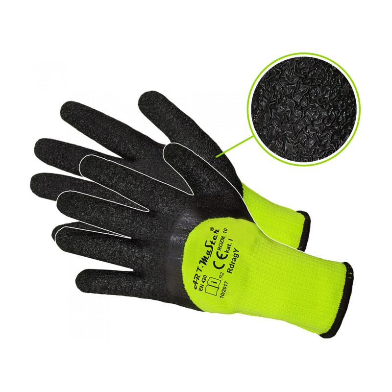 Рабочие перчатки утепленные RDRAG YELLOW