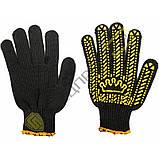 Перчатки х/б вязанные с ПВХ точкой КОРОНА, фото 2