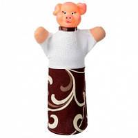 """Кукла-рукавичка """"ПОРОСЕНОК"""" (пластизоль, ткань), B080"""