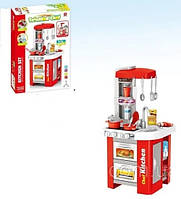 Детская Кухня 922-48 с аксессуарами Звуковые и Световые эффекты 49 деталей Красная