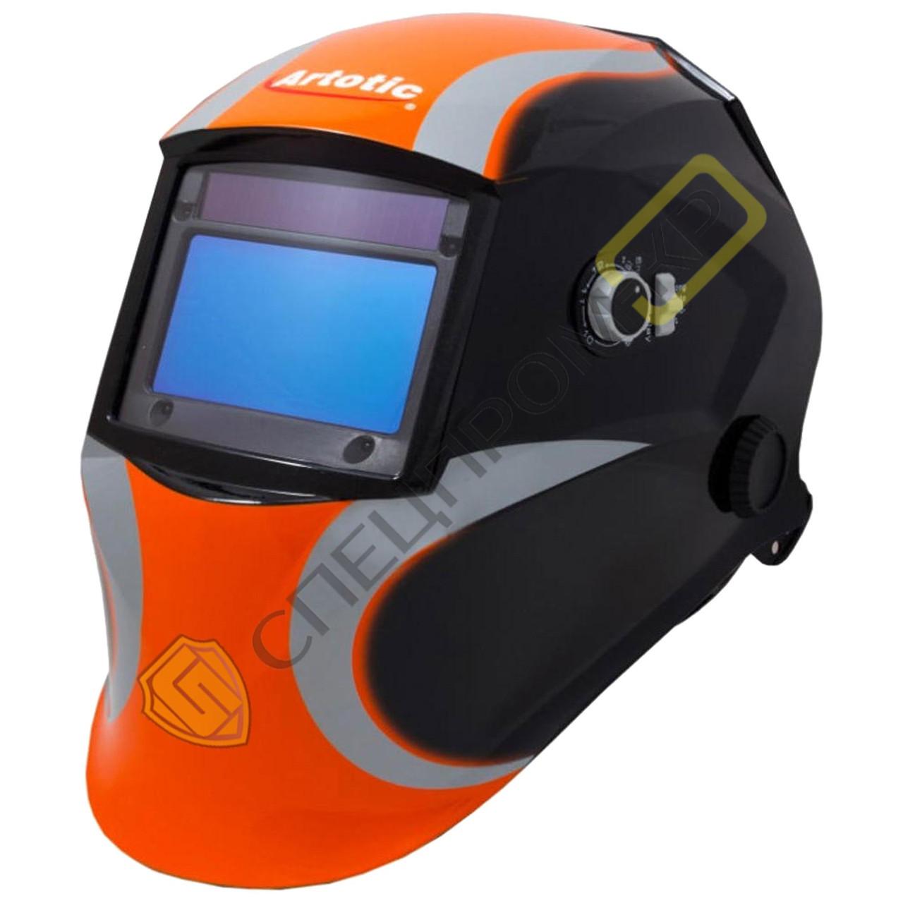 Сварочная маска VITA Artotic SUN7B чёрно-оранжевая