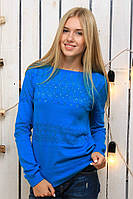Джемпер женский Соты (голубой)