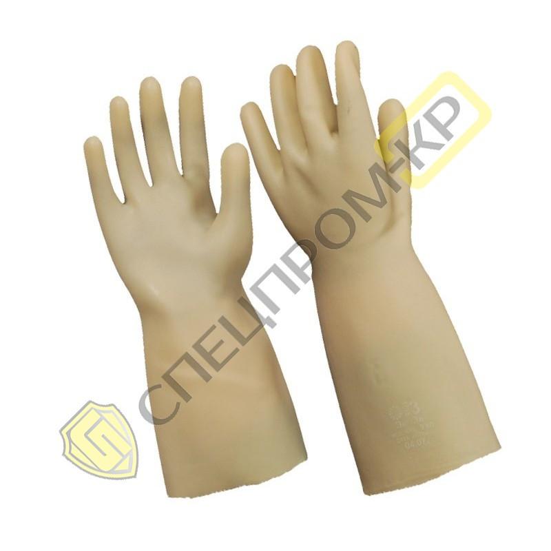 Перчатки диэлектрические бесшовные для электроустановок до 7500 В (Класс 1)