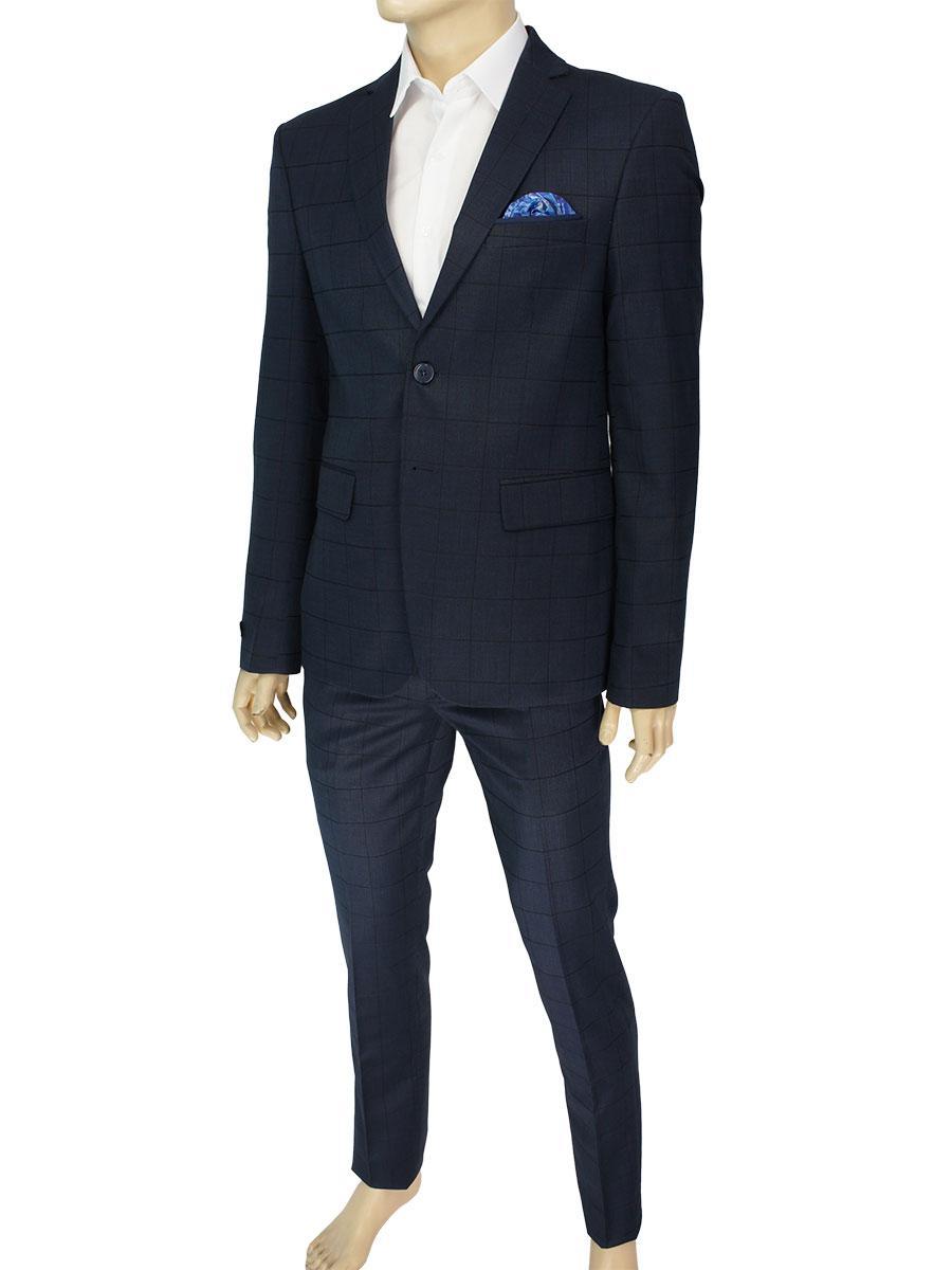 Темно-синий мужской костюм Daniel Perry C.522#6