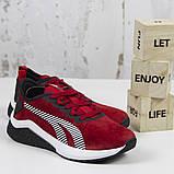 Жіночі спортивні кросівки, червоні замшеві BaaS L1611-8. Повсякденні жіночі кросівки на високій підошві, фото 2