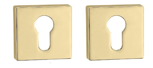 Дверная накладка для замка PZ Forme Q латунь матовая (Италия)